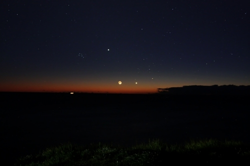 Jupiter, the Moon, Venus