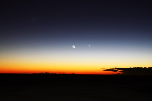 Jupiter, the Moon and Venus