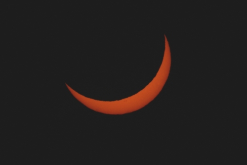 The sun as a crescent